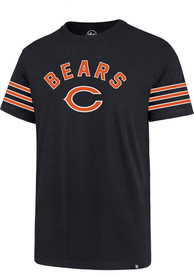 Chicago Bears 47 Stripe Sleeve Legion T Shirt - Navy Blue