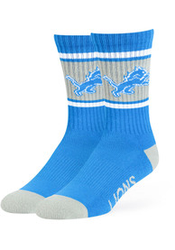 47 Detroit Lions Mens Blue Duster Crew Socks