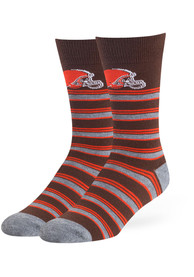 47 Cleveland Browns Mens Brown MaCalister Flat Dress Socks