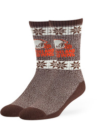 47 Cleveland Browns Mens Brown Norse Dress Socks