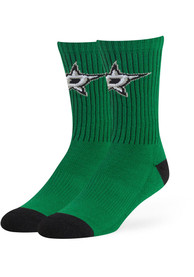 47 Dallas Stars Mens Green Strikethrough Crew Socks