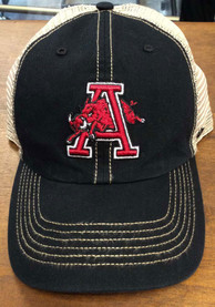 47 Arkansas Razorbacks Trawler Clean Up Adjustable Hat - Black