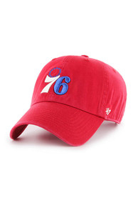 47 Philadelphia 76ers Alternate Logo Adjustable Hat - Red