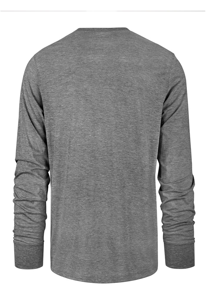 '47 Chicago Blackhawks Grey Imprint Match Long Sleeve Fashion T Shirt - Image 2