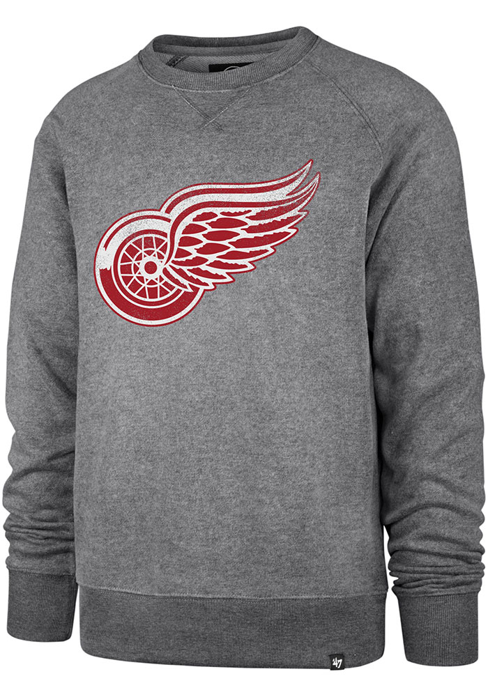 47 Detroit Red Wings Mens Grey Imprint Match Long Sleeve Fashion Sweatshirt - Image 1