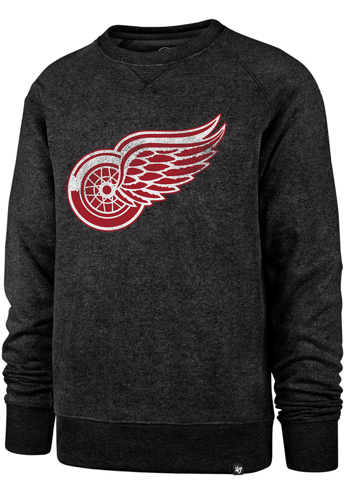 47 Detroit Red Wings Mens Black Imprint Match Long Sleeve Fashion Sweatshirt - Image 1