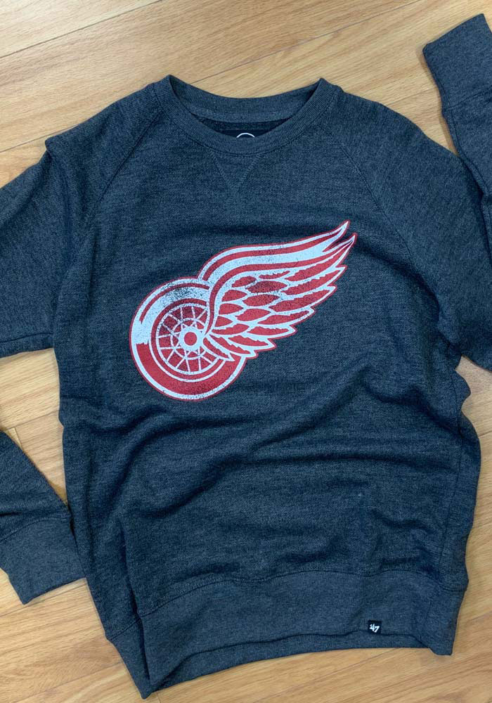 47 Detroit Red Wings Mens Black Imprint Match Long Sleeve Fashion Sweatshirt - Image 3