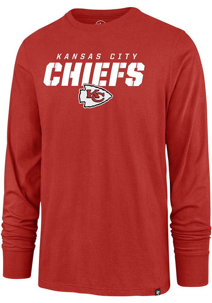 47 Kansas City Chiefs Red Traction Long Sleeve T Shirt - Image 1