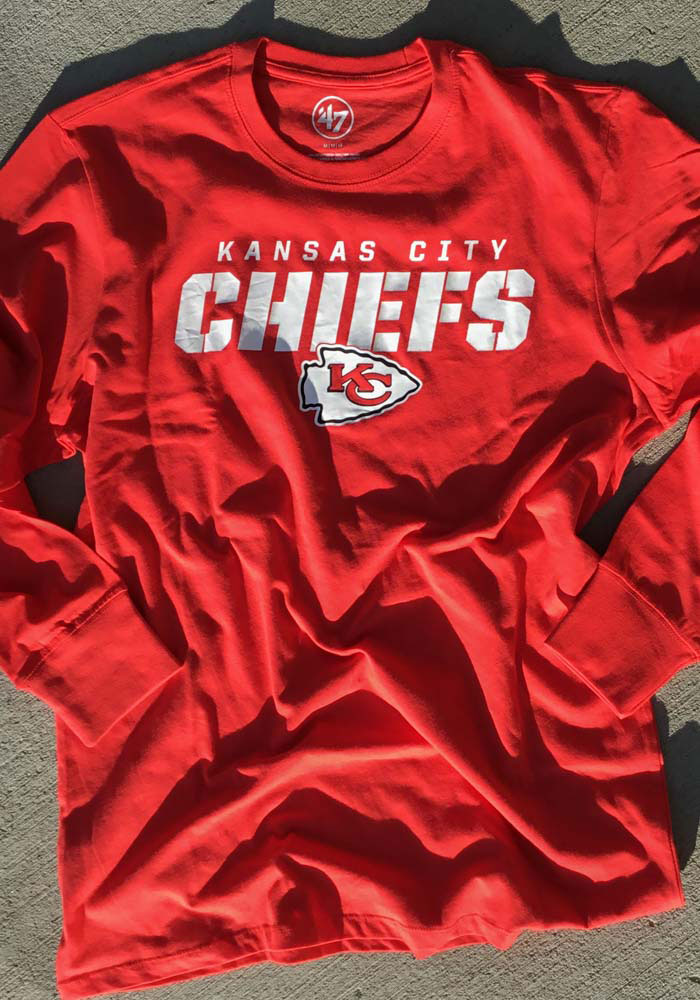 47 Kansas City Chiefs Red Traction Long Sleeve T Shirt - Image 3