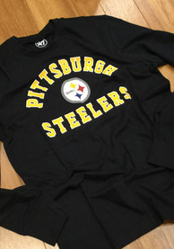 47 Pittsburgh Steelers Black Varsity Arch Tee