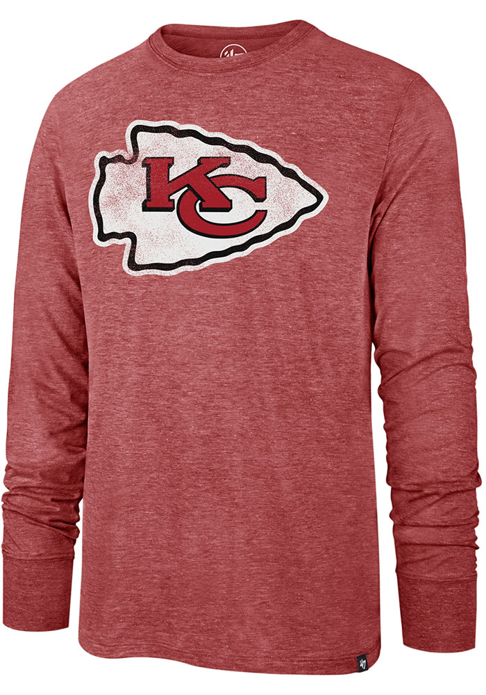 47 Kansas City Chiefs Red Imprint Match Long Sleeve Fashion T Shirt - Image 1