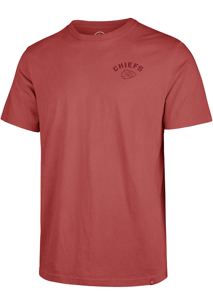 47 Kansas City Chiefs Red Line Up Short Sleeve T Shirt - Image 1
