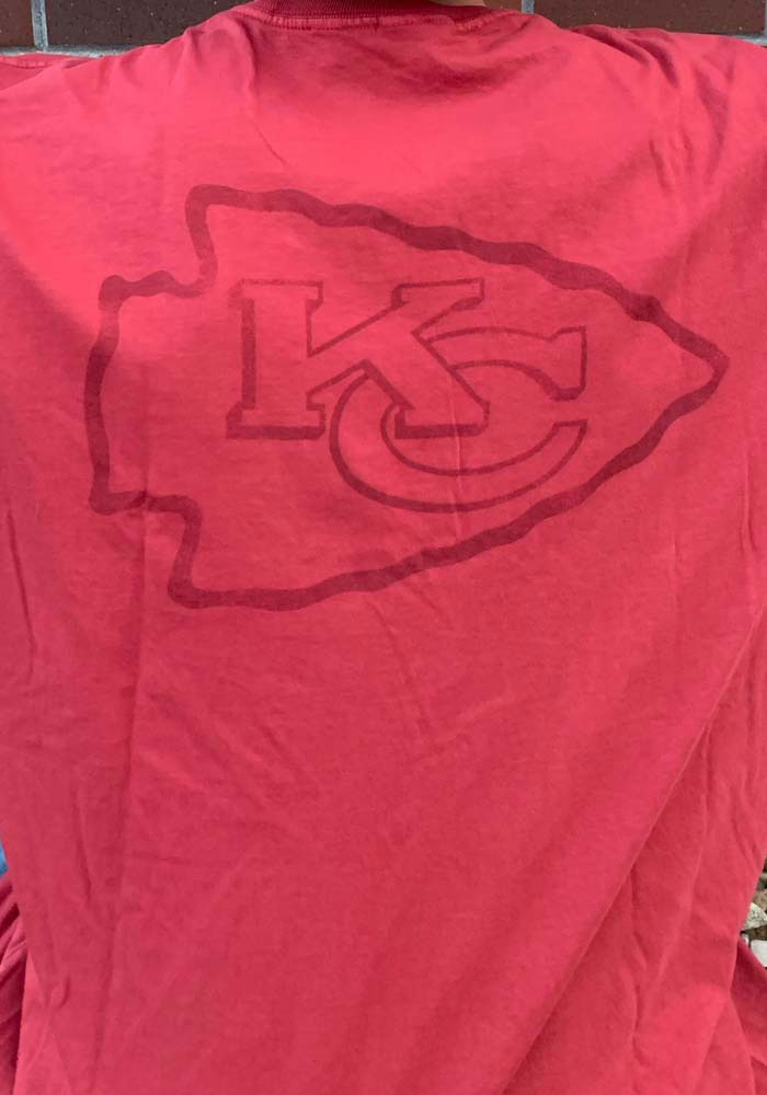 47 Kansas City Chiefs Red Line Up Short Sleeve T Shirt - Image 3