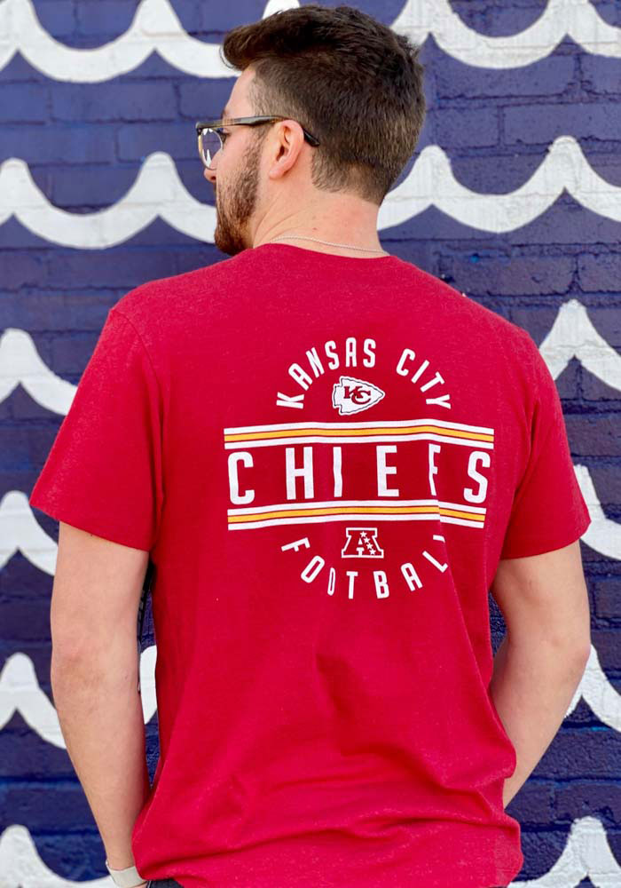 47 Kansas City Chiefs Red Line Up Short Sleeve T Shirt - Image 4