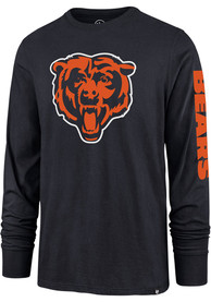 47 Chicago Bears Navy Blue Sleeve Wordmark Tee