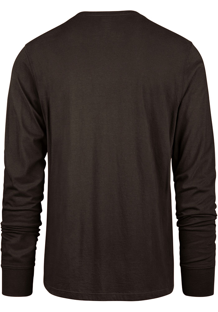 '47 Cleveland Browns Brown Varsity Arch Long Sleeve T Shirt - Image 2