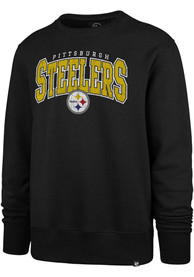 Pittsburgh Steelers 47 Varsity Block Crew Sweatshirt - Black