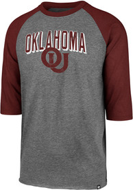 47 Oklahoma Sooners Red Break Thru Club Raglan Fashion Tee