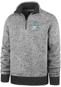 47 Michigan State Spartans Charcoal Encore Kodiak 1/4 Zip Pullover