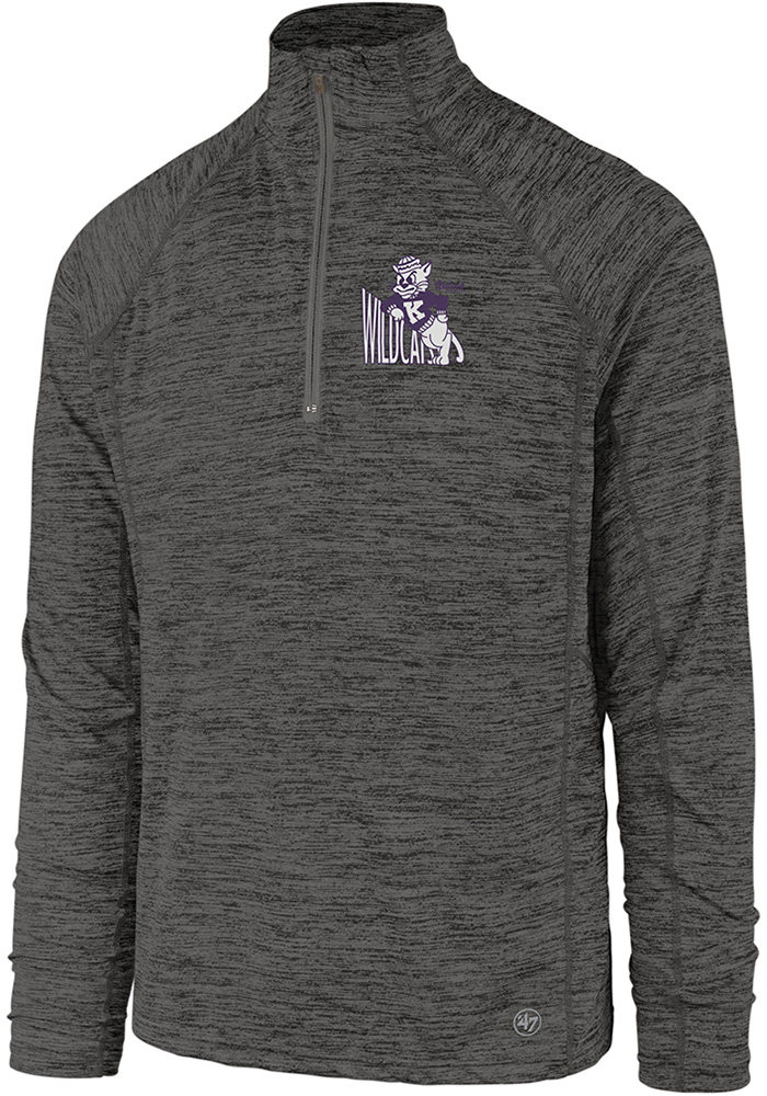 47 K-State Wildcats Charcoal Impact 1/4 Zip Pullover