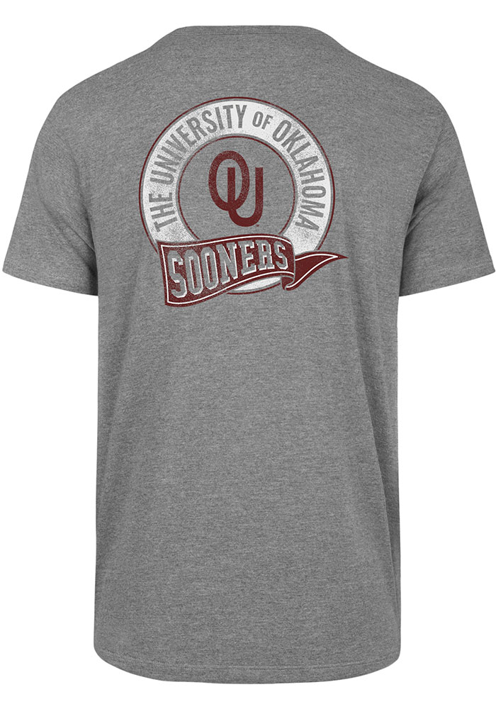 47 Oklahoma Sooners Grey Super Rival Pocket Short Sleeve T Shirt - Image 2