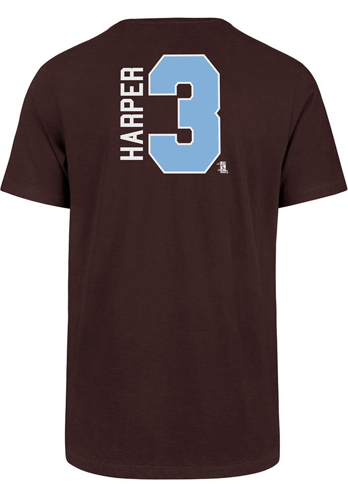 Bryce Harper Philadelphia Phillies Maroon Retro N & N Short Sleeve Player T Shirt - Image 1