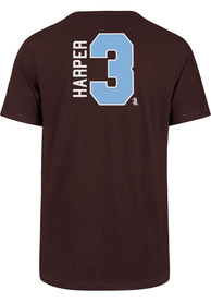 Bryce Harper Philadelphia Phillies 47 Name And Number T-Shirt - Maroon