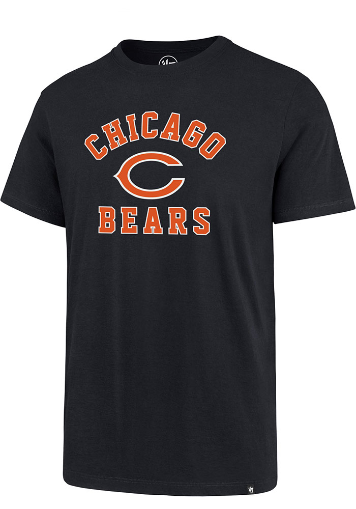 Chicago Bears 47 Varsity Arch T Shirt - Navy Blue