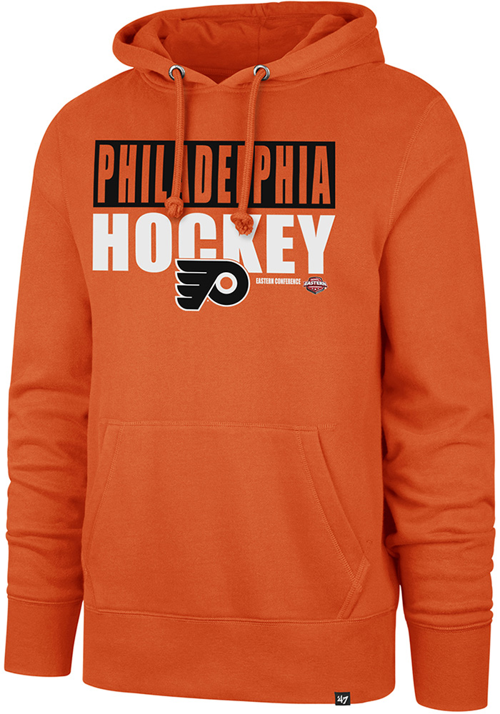 '47 Philadelphia Flyers Orange Blockout Headline Hoodie