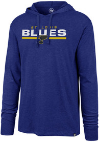 St Louis Blues 47 End Line Club Hooded Sweatshirt - Blue