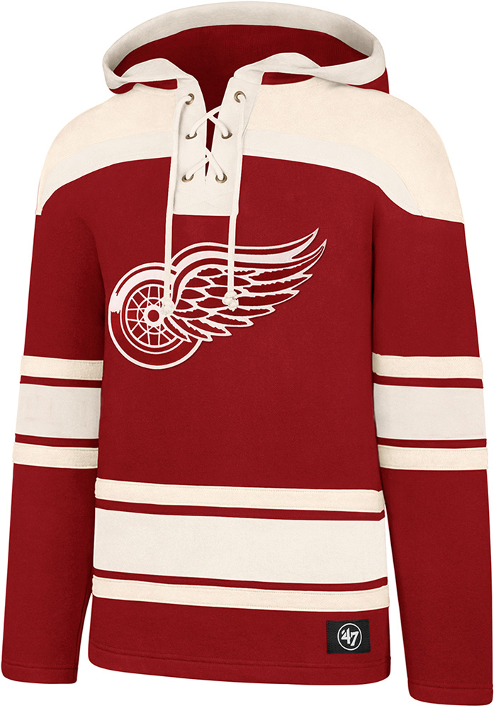 '47 Detroit Red Wings Mens Red Superior Lacer Fashion Hood - Image 1