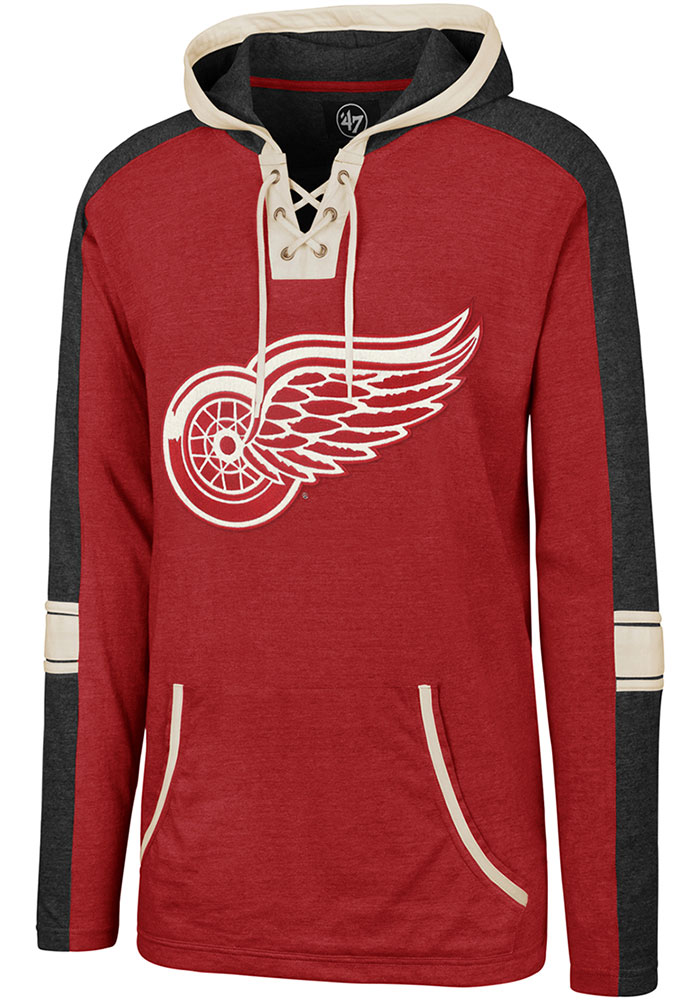 47 Detroit Red Wings Mens Red Tahoe Lace Up Fashion Hood - Image 1