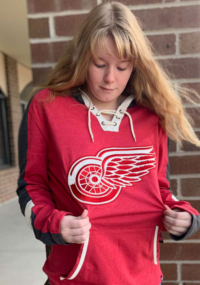 47 Detroit Red Wings Mens Red Tahoe Lace Up Fashion Hood - Image 2