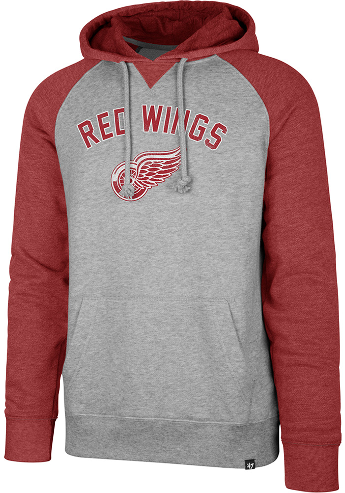 '47 Detroit Red Wings Match Raglan Grey Fashion Hood