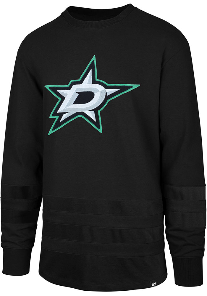 '47 Dallas Stars Black Center Ice Long Sleeve Fashion T Shirt - Image 1