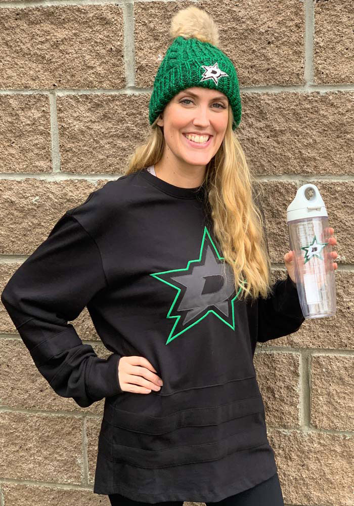 '47 Dallas Stars Black Center Ice Long Sleeve Fashion T Shirt - Image 3