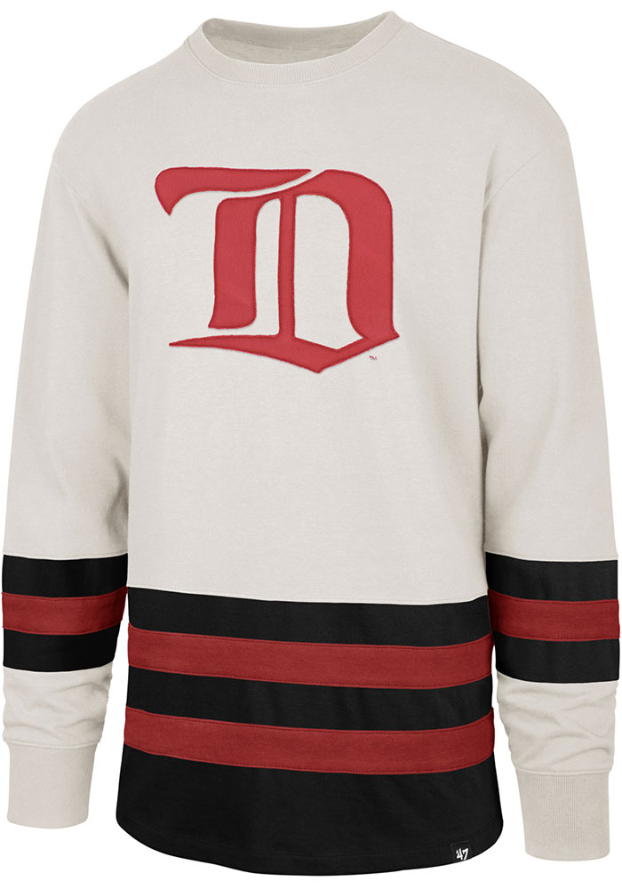 47 Detroit Red Wings Brown Center Ice Long Sleeve Fashion T Shirt - Image 1
