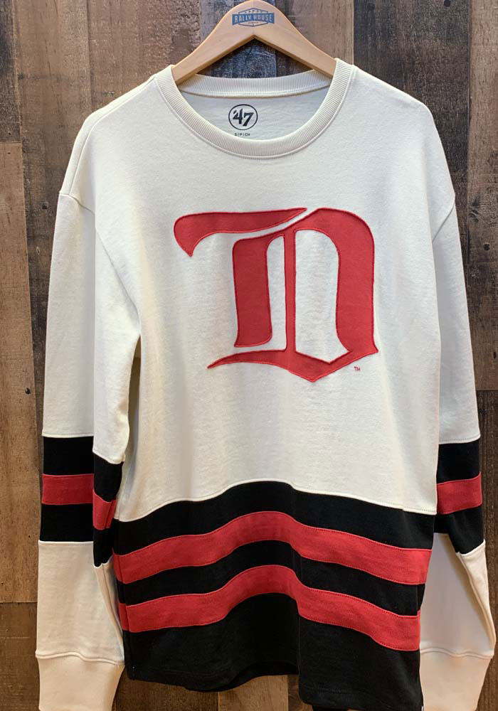 47 Detroit Red Wings Brown Center Ice Long Sleeve Fashion T Shirt - Image 2