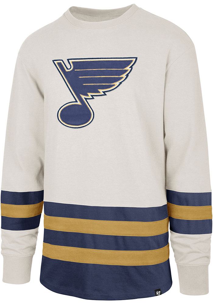 47 St Louis Blues Brown Center Ice Long Sleeve Fashion T Shirt - Image 1