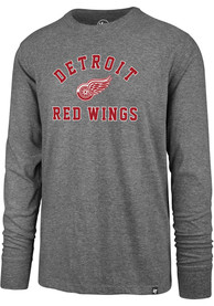 Detroit Red Wings 47 Varsity Arch T Shirt - Grey