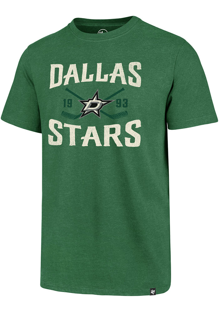 '47 Dallas Stars Kelly Green Face Off Club Short Sleeve T Shirt - Image 1