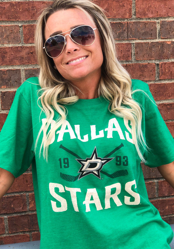 '47 Dallas Stars Kelly Green Face Off Club Short Sleeve T Shirt - Image 3