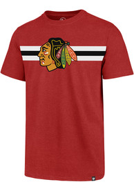 Chicago Blackhawks 47 Stripe Chest Legion T Shirt - Red