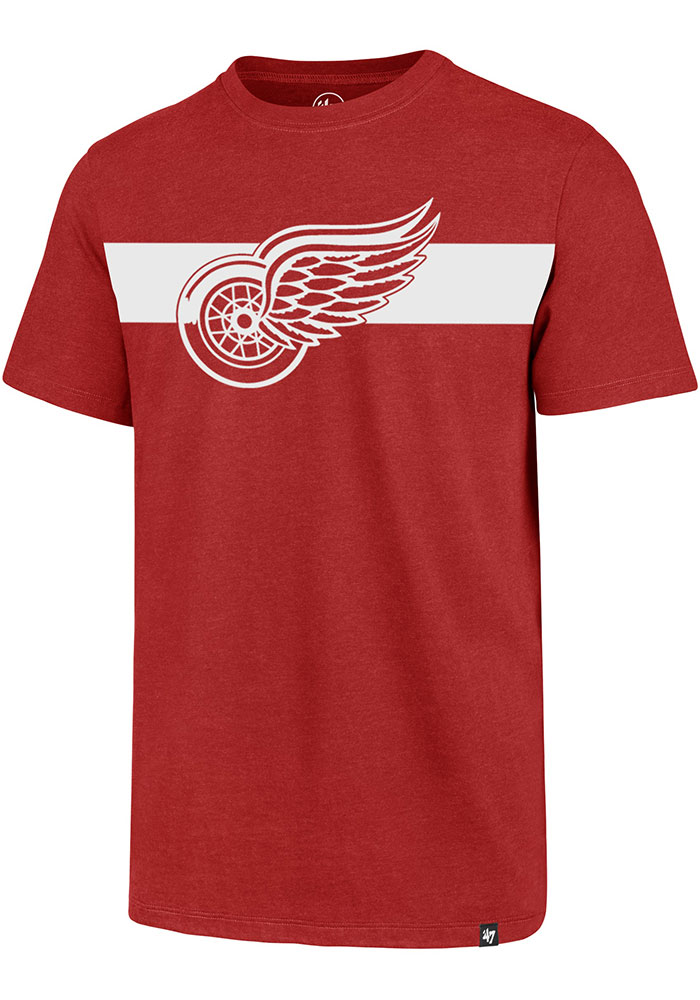Detroit Red Wings 47 Stripe Chest Legion T Shirt - Red