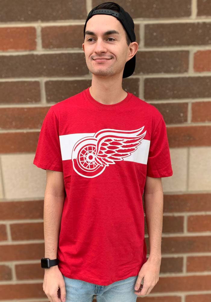 47 Detroit Red Wings Red Stripe Chest Legion Short Sleeve T Shirt - Image 3