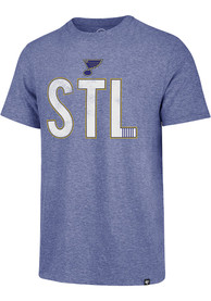 47 St Louis Blues Blue Abbreviation Match Fashion Tee
