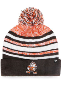 47 Cleveland Browns Brown Bubbler Cuff Youth Knit Hat