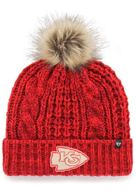 47 Kansas City Chiefs Womens Red Meeko Cuff Knit Hat