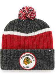'47 Chicago Blackhawks Black Holcomb Cuff Knit Hat