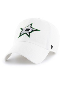 Dallas Stars 47 Clean Up Adjustable Hat - White